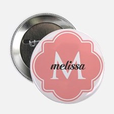 "Light Pink Custom Personalized Monogr 2.25"" Button"