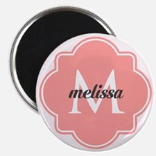 Light Pink Custom Personalized Monogram Magnet