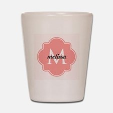 Light Pink Custom Personalized Monogram Shot Glass
