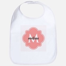 Light Pink Custom Personalized Monogram Bib