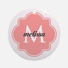 Light Pink Custom Personalized Mo Ornament (Round)