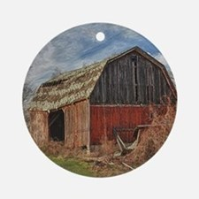 Old Barn 1 Ornament (Round)