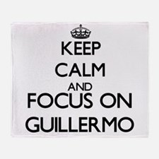 Keep Calm and Focus on Guillermo Throw Blanket