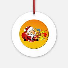 Christmas Santa Claus Ornament (Round)