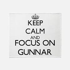 Keep Calm and Focus on Gunnar Throw Blanket