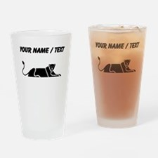 Panther Silhouette (Custom) Drinking Glass