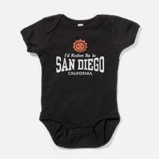 Funny Made in san diego Baby Bodysuit