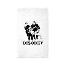 Disobey Authority Area Rug