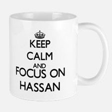 Keep Calm and Focus on Hassan Mugs