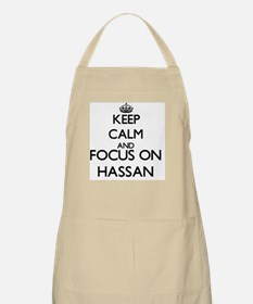 Keep Calm and Focus on Hassan Apron