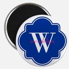 "Blue Custom Personalized Mo 2.25"" Magnet (10 pack)"
