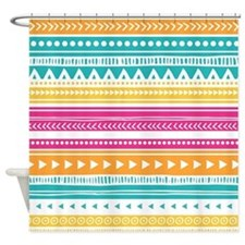 Colorful Tribal Geometric Vintage S Shower Curtain
