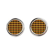 ornament-candycornmulti.png Round Cufflinks