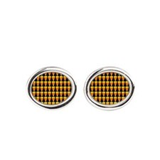ornament-candycornmulti.png Oval Cufflinks