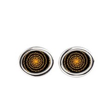 ornament-candycornspiral.png Oval Cufflinks
