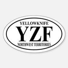 Yellowknife Oval Decal