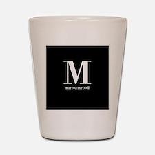Black and White Monogram Name Shot Glass