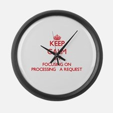 Keep Calm by focusing on Processi Large Wall Clock