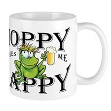 Hoppy Makes Me Happy Beach Frog Mugs