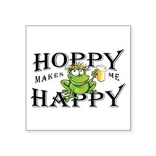 Hoppy Makes Me Happy Beach Frog Sticker