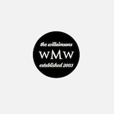 Black and White Custom Mono Mini Button (100 pack)