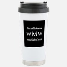 Black and White Custom Stainless Steel Travel Mug