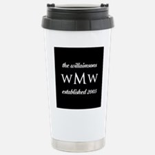 Black and White Custom Travel Mug
