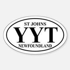 St Johns Oval Decal