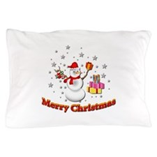 Christmas Snowman Pillow Case