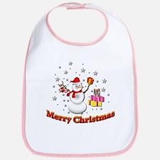 Christmas Snowman Bib