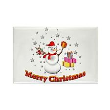 Christmas Snowman Rectangle Magnet