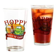 Hoppy Makes Me Happy Beach Frog Drinking Glass