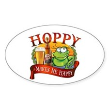 Hoppy Makes Me Happy Beach Frog Decal