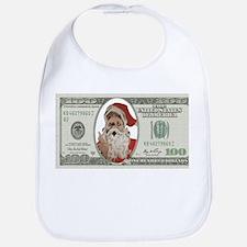 Santa 100 Dollars Bib