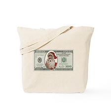 Santa 100 Dollars Tote Bag