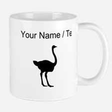 Ostrich Silhouette (Custom) Mugs