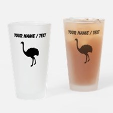 Ostrich Silhouette (Custom) Drinking Glass