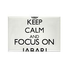 Keep Calm and Focus on Jabari Magnets