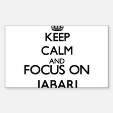 Keep Calm and Focus on Jabari Decal