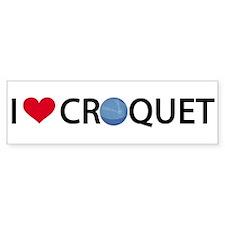 00-iheartcroquet-mug Bumper Bumper Sticker
