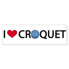 00-iheartcroquet-mug Bumper Car Sticker