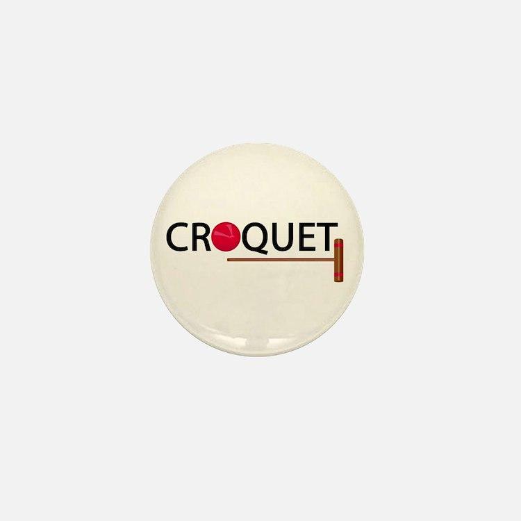 00-croq-ballmallet-ornR.png Mini Button (10 pack)