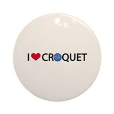 00-iheartcroquet-button.png Ornament (Round)
