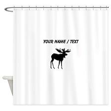 Moose Silhouette (Custom) Shower Curtain