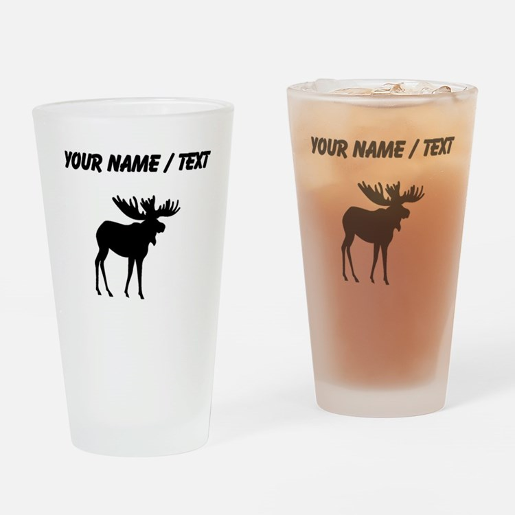 Moose Silhouette (Custom) Drinking Glass