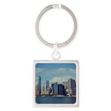 Lower Manhattan Square Keychain