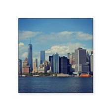 "Lower Manhattan Square Sticker 3"" x 3"""