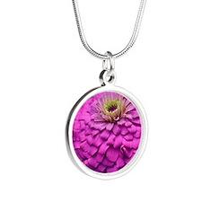 Unique Macro Silver Round Necklace