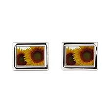 Sunflowers Rectangular Cufflinks