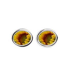 Sunflowers Oval Cufflinks